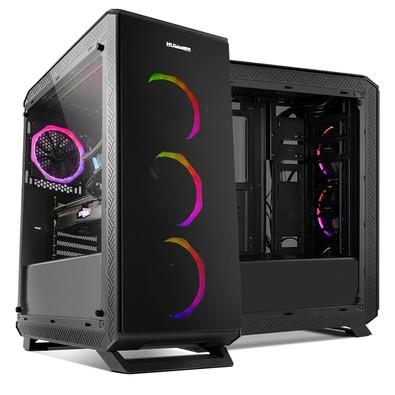 Gabinete NOX TGF em Vidro Temperado, Controlador de FAN e RGB, USB 3.0, 4 FANS com RGB Rainbow NXHUMMERTGF