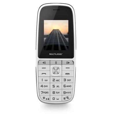 Celular Multilaser Up Play Dual Chip, Câmera, MP3, Rádio FM, Bluetooth, Lanterna Branco - P9077