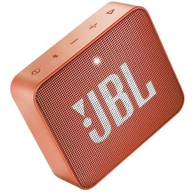 Caixa de Som JBL Go 2, Bluetooth, À Prova D´Água, 3W, Laranja - JBLGO2ORG