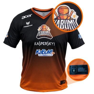 Camiseta Uniforme Oficial KaBuM! e-Sports 2018, Orange Ninja, Dry-Fit, Tamanho M