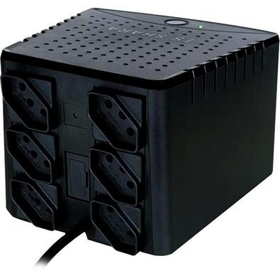 Estabilizador TS Shara Powerest Home, 1500VA, Mono 115V, 6 Tomadas - 9008 Black