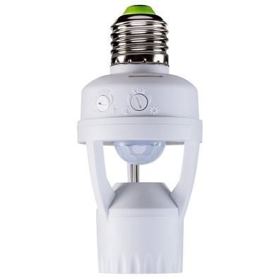 Sensor de Presença Intelbras para Iluminação, Alcança até 6m, com Fotocélula, para Soquete E27, Branco - ESP 360 S