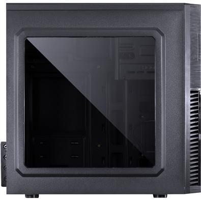 Gabinete Gamer PCYes Mercury sem Fonte, Mid Tower, USB 3.0, 1 Fan LED Azul, Preto com Lateral em Acrílico - MRCPTAZ1FCA