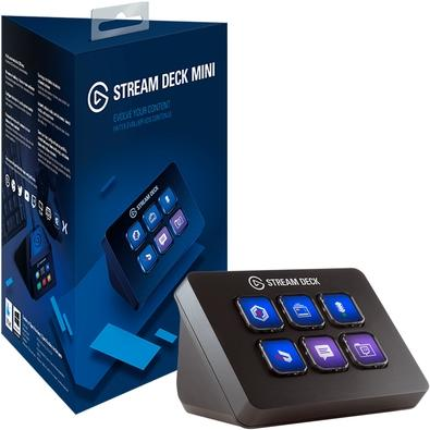 Stream Deck Mini Elgato, USB Integrado, Preto - 10GAI9901