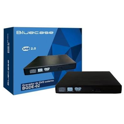 Drive Bluecase Gravador Externo de CD/DVD e Leitor de CD/DVD - BGDE02CASE