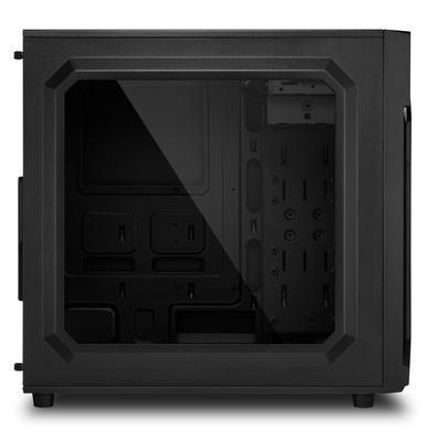Gabinete Gamer Sharkoon VG6-W Blue ATX sem Fonte, USB 3.0, 3 Fans LED, Preto com Lateral em Acrílico