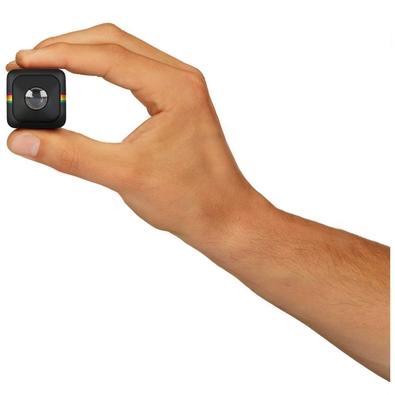 Câmera de Ação Polaroid, Cube, 1080p, 6MP, Memória Expansível até 128GB, acompanha Cartão Micro SD de 8GB, Preta - POLCUBELSBK