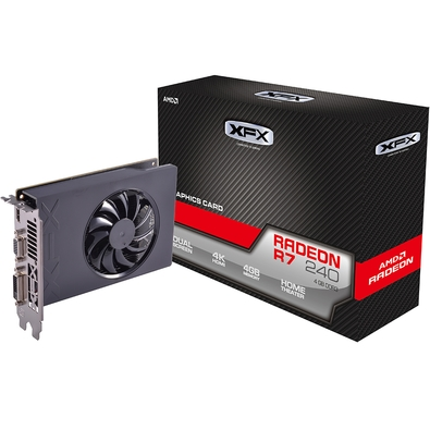 Placa de Vídeo XFX AMD Radeon R7 240 Core 4GB, DDR3 - R7-240A-4NFR