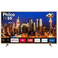 Smart TV LED 55´ UHD 4K Philco, 3 HDMI, 2 USB, Wi-Fi - PTV55F61SNC