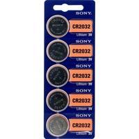 Bateria Botão de Lítio Sony, 3V, com 5 Unidades - CR2032