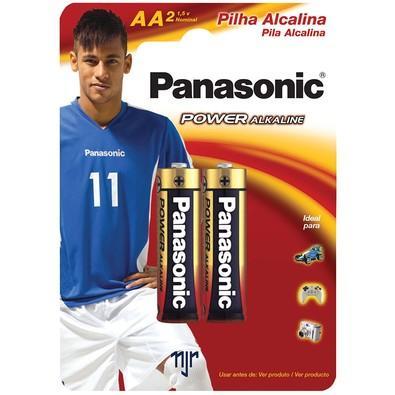 Pilha Panasonic Alcalina AA Power com 2 Unidades - LR6XAB/2B192