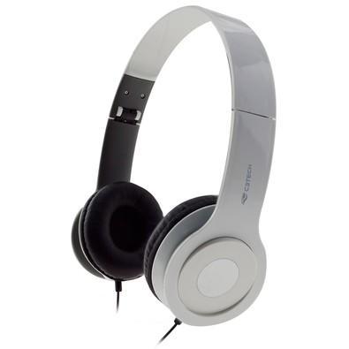 Headset C3 Tech Dobrável, Branco - PH-100WH