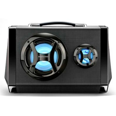 Caixa de Som Portátil Multilaser Bluetooth, LED, Speaker 6.5´, Microfone, 80W - SP217