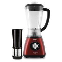 Liquidificador Philco Inox Filter Red, 900W, 127V, Vermelho/Preto