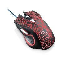 Mouse Gamer Multilaser 2400dpi 6 Botões Preto Com Led- Mo250