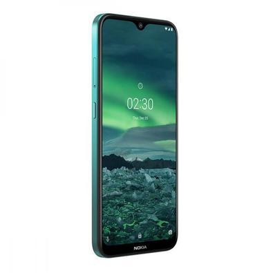 Smartphone Nokia 2.3 32GB, 2GB RAM, Tela 6,2 Pol. HD+, Câmera Dupla Traseira com Inteligência Artificial + Selfie, 4G ? Verde Ciano NK005