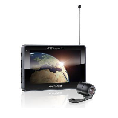 GPS Multilaser Tracker TV Digital LCD 7 Pol. Touch FM Câmera de Ré Avin - GP039