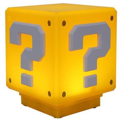 Luminária Bloco de Interrogação Super Mario com Som