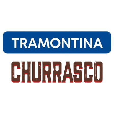 Kit para Churrasco Tramontina em Aço Inox com Cabo Vermelho Polywood 14 Peças Tramontina
