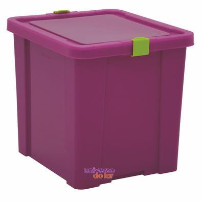 Caixa Organizadora 42L Basic Rosa