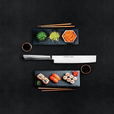 Faca Nakiri Tramontina Sushi Diamond com Lâmina e Cabo em Aço Inox 7