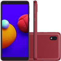 Smartphone Samsung Galaxy A01 Core, 32GB, 8MP, Tela 5.3´, Vermelho - B08G63D3YX