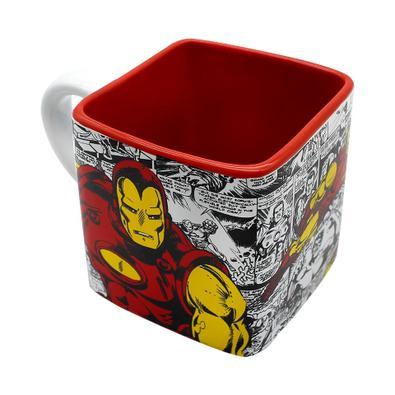 Caneca Cubo Homem de Ferro HQ Marvel