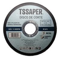 Disco Corte Fino Inox  4.1/2 pol 1mm Esmerilhadeira 115mm - Tssaper 1 unidade