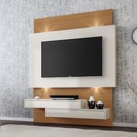 Painel Dalla Costa com LED para TV de 60 Polegadas, 2 Gavetas - TB120L