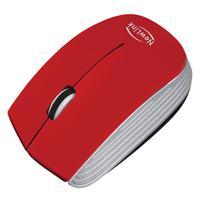 Mouse Wireless Newlink Optimus, Vermelho/prata - MO221NL