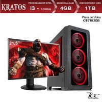 PC Gamer ICC KT2342SM21 Intel Core I3 3,20 Ghz 4GB 1TB GT710 2GB HDMI FULL HD Monitor LED 21,5