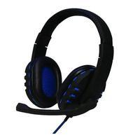 Headset Oex Gamer BIT, Preto e Azul, USB  - HS206