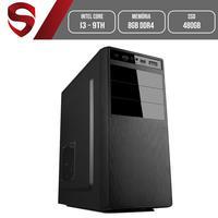 Computador Skill HomeJob Intel Core i3 9ª Geração, 8GB, DDR4, SSD 480GB, Geforce GT, Asus