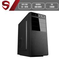 Computador Skill HomeJob Intel Core i3 9ª Geração, 4GB, DDR4, SSD 240GB, Geforce GT, Asus