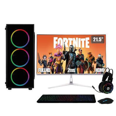 PC Gamer Completo XP 3Green, Intel Core i5, 8Gb, HD 2Tb, Geforce GTX 1050Ti 4Gb, Fonte 500W com Monitor 21.5