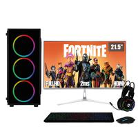 "PC Gamer Completo XP 3Green, Intel Core i5, 8Gb, HD 2Tb, Geforce GTX 1050Ti 4Gb, Fonte 500W com Monitor 21.5"" Prata - Linux"