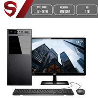 Computador Skill HomeJob Completo Intel Core i3 9100F 9ª Geração 8GB DDR4, Monitor 19.5´, HD 1TB, (Placa de vídeo GEFORCE GT) Placa mãe ASUS