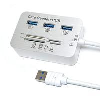 HUB USB 3.0 F3 com 3 Portas USB e Leitor de Cartão de Memória - JC-U-COMBO