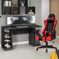 Kit Bela Cadeira Gamer MoobX GT Racer + Mesa Gamer XP, Preto