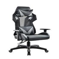 Cadeira Gamer Pelegrin em Couro Pu, Reclinável, Suporta até 150Kg, Cinza - Pel-3014