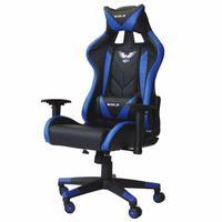Cadeira Gamer Escritório Presidente Pro EagleX, Giratória, Reclinável, Braço 3D Flexível e Ajustável, Suporta até 120Kg, Azul