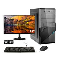 Computador Completo Corporate Asus 4° Gen I5 8gb 120gb Ssd Monitor 19