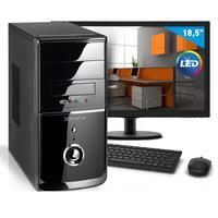 "Kit - Computador Smart Pc 80189 Intel Core I3 (4gb Hd 1tb) + Monitor 18,5"" Windows 8<br/>"