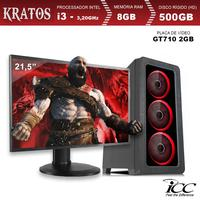PC Gamer ICC KT2381SM21 Intel Core I3 3,20 Ghz 8GB 500GB GT710 2GB HDMI FULL HD Monitor LED 21,5