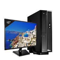 Mini Computador Icc Sl1882dm15 Intel Dual Core 8gb HD 1tb Dvdrw Monitor 15 Windows 10