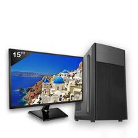 Computador Completo Icc Intel Core I3 8gb Hd 120gb Ssd Dvdrw Monitor 15
