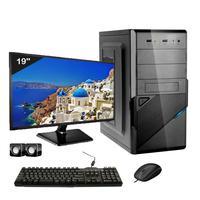 Computador Completo Icc Intel Core I3 8gb Hd 120gb Ssd Dvdrw Monitor 19