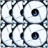 Kit com 6 Cooler Fan Rise Mode 120mm com Led, Branco - RM-WN-01-BW