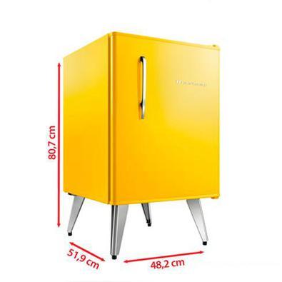 Frigobar Brastemp Retrô Com 76 Litros De Capacidade E Controle Automático De Temperatura Amarelo - Bra08by - 110v