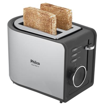 Torradeira Philco Easy Toast Preta R2, 850W, 127V